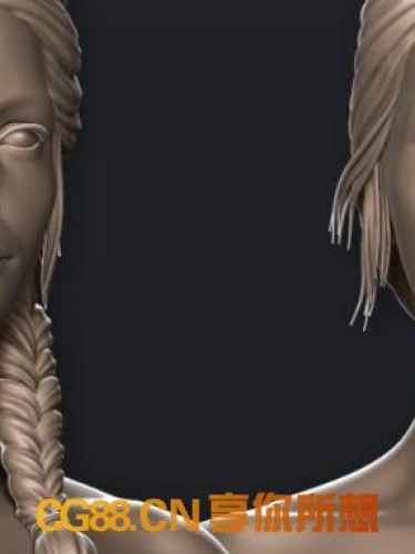 高端男女角色基本人物3D模型High-End Male & Female Basemeshes for Production