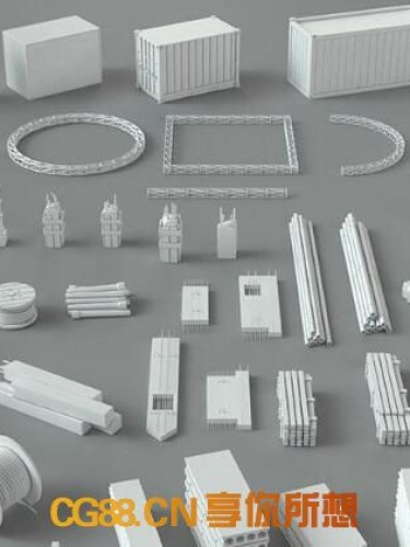 CGTrader 建筑包– Construction Pack- 66 pieces 3D model